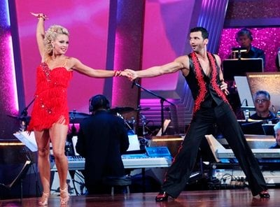 In this image released by ABC, Kate Gosselin , left, and her partner Tony Dovolani perform on 'Dancing with the Stars,' on Monday, March 29, 2010 in Los Angeles. (AP Photo/ABC, Adam Larkey)