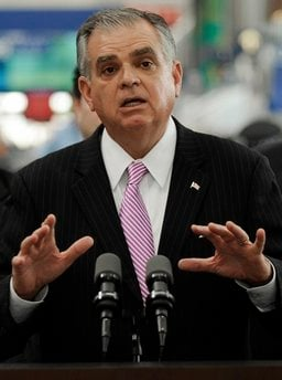 U.S. Transportation Secretary Ray LaHood speaks during a news conference at O'Hare International Airport, Tuesday, April 6, 2010, in Chicago. LaHood said Tuesday he wouldn't be surprised if a review of documents from Toyota Motor Corp.