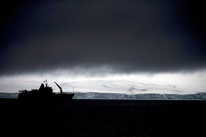 In this Jan. 25, 2015 photo, Chile's Navy ship Aquiles moves alongside the Hurd Peninsula, seen from Livingston Islands, in Antarctica. The countries that decide the fate of Antarctica agreed on Friday, Oct. 28, 2016, to create the world's largest marine