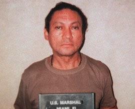 FILE - In this Jan. 1990, U.S. Marshalls file photo, deposed Panamanian Gen. Manuel Antonio Noriega is seen at an undisclosed location.