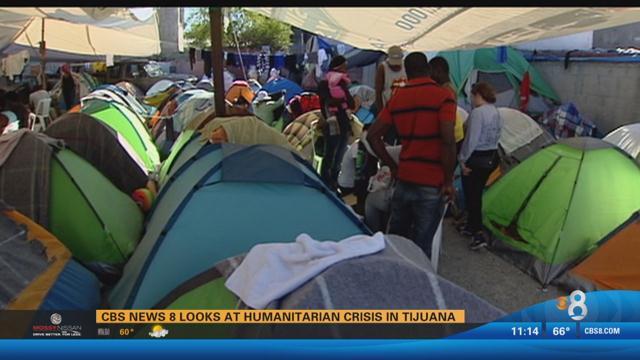 CBS News 8 looks at the humanitarian crisis in Tijuana