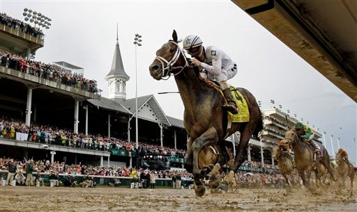 Calvin Borel rides Super Saver to victory during the 136th Kentucky Derby horse race at Churchill Downs Saturday, May 1, 2010, in Louisville, Ky. (AP Photo/David J. Phillip)