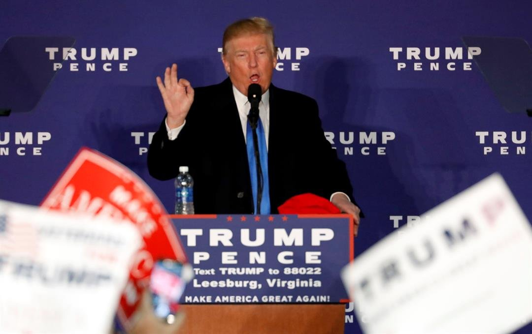 Republican presidential candidate Donald Trump speaks at a rally Monday, Nov. 7, 2016 in Leesburg, Va. (AP Photo/Alex Brandon)