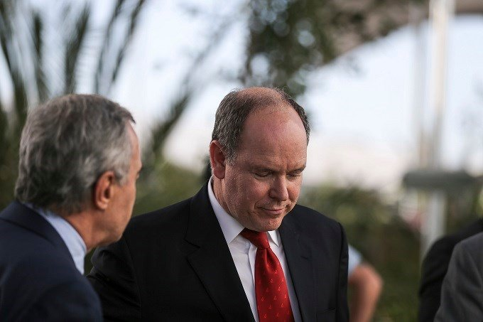 Prince Albert II of Monaco arrives at the Climate Conference, known as COP22, in Marrakech, Morocco, Monday, Nov. 14, 2016. Global temperatures are soaring toward a record high this year, the U.N. weather agency said Monday.(AP Photo/Mosa'ab Elshamy)