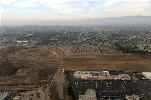 General aerial overall view of Hollywood Park on Tuesday, Nov 15, 2016 in Inglewood, Calif.