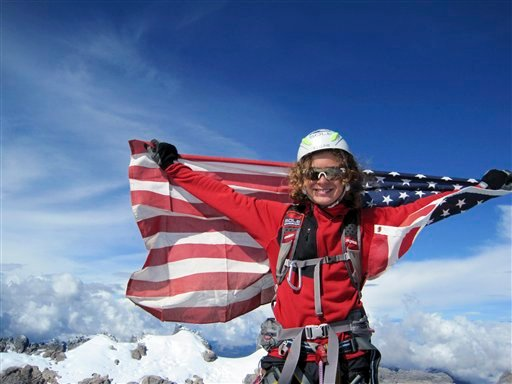 In this Sept. 1, 2009 file photo provided by the Romero family, Jordan Romero, 13, Jordan Romero poses at the Carstensz Pyramid summit. Romero has become the youngest climber to reach the top of Mount Everest on Saturday, May 22, 2010. (AP Photo)