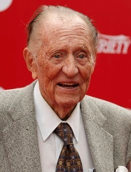 FILE - In this Oct. 4, 2009 file photo, television host Art Linkletter poses on the press line at the 'Target Presents Variety's Power of Youth' event to benefit St. Jude Children's Research Hospital in Los Angeles.