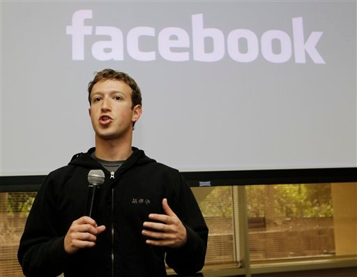 Facebook CEO Mark Zuckerberg talks about the social network site's new privacy settings in Palo Alto, Calif., Wednesday, May 26, 2010. (AP Photo/Marcio Jose Sanchez)