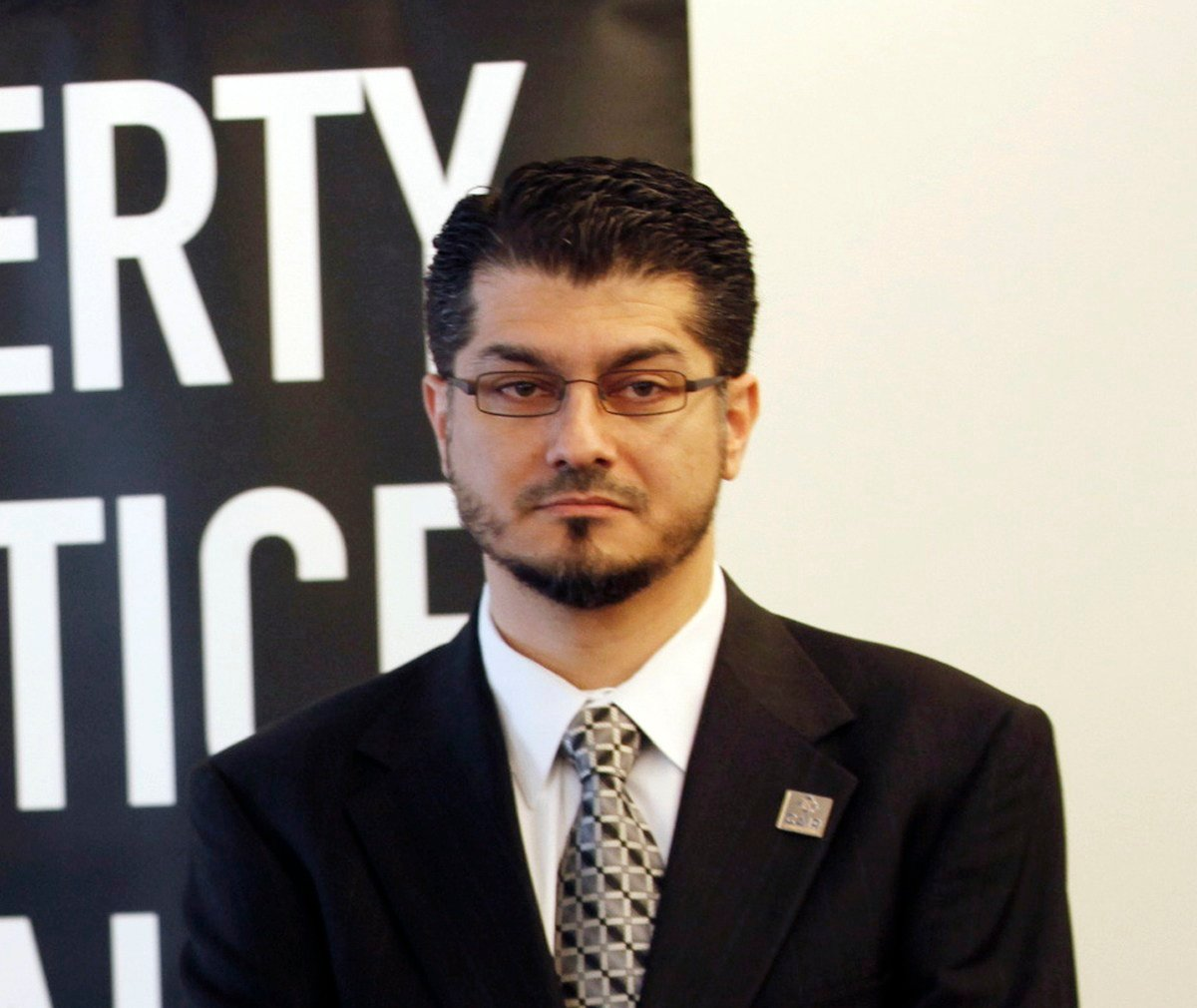 This Feb. 23, 2011 file photo shows Council on American-Islamic Relations, Executive Director, Hussam Ayloush, at the ACLU Foundation of Southern California headquarters in Los Angeles.