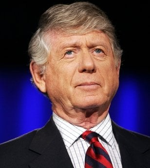 FILE - In this photo taken Nov. 22, 2005, Ted Koppel prepares for the taping of his last broadcast of 'Nightline,' at ABC's studio in Washington. Andrew Koppel.