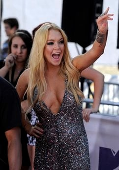Lindsay Lohan arrives at the MTV Movie Awards in Universal City, Calif., on Sunday, June 6, 2010.