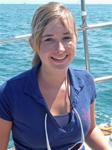 In this July 2009 photo provided by Laurence Sunderland shows Abby Sunderland sailing in Santa Monica Bay, in Santa Monica, Calif.