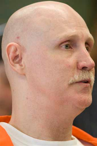 In this Thursday, June 10, 2010 picture, Ronnie Lee Gardner listens to proceedings during his commutation hearing at the Utah State Prison in Draper, Utah. Gardner is scheduled to be executed by firing squad at midnight on June 18, 2010.