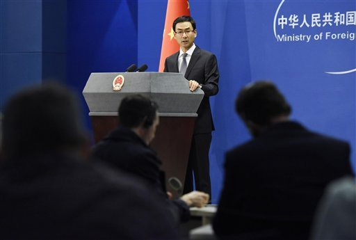 "At a regular press briefing on Dec. 12, 2016, China's Foreign Ministry spokesman Geng Shuang expresses ""serious concern"" about U.S. President-elect Donald Trump's remarks suggesting the United States need not adhere to its long-held position on the status"