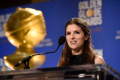 Anna Kendrick announces nominations for the 74th annual Golden Globe Awards at the Beverly Hilton hotel on Monday, Dec. 12, 2016, in Beverly Hills, Calif. The 74th annual Golden Globe Awards will be held on Sunday, Jan. 8, 2017. (Photo by Chris Pizzello/I