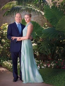 This undated photo provided Wednesday June 23, 2010 by the Monaco Palace shows Prince Albert and South Africa's Charlene Wittstock.