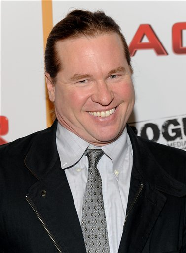 In this May 19, 2010 file photo, actor Val Kilmer attends a special screening of 'MacGruber' at the Landmark Sunshine Theater in New York.