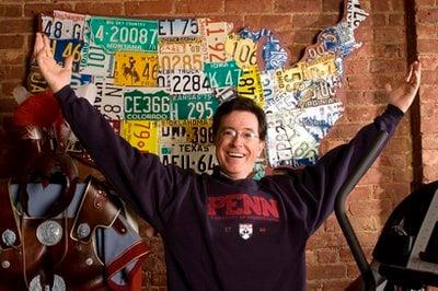FILE - In this April 9, 2008 file photo, Stephen Colbert is photographed at his office in New York.