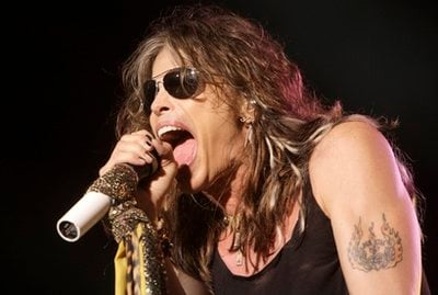 FILE - In this June 10, 2009 file photo, lead singer Steven Tyler of the rock band Aerosmith performs at the Verizon Wireless Amphitheatre in Maryland Heights.