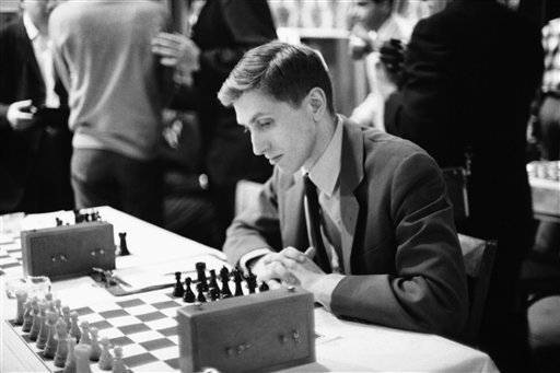 In this Dec. 22, 1965 file photo, Bobby Fischer attends the start of the U.S. Chess Championship tournament in New York. (AP Photo/JK, file)