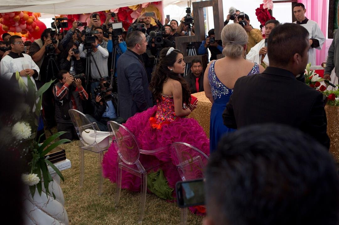 "Millions of people responded to the invitation for Rubi's Dec. 26th coming of age party in rural northern Mexico, after her parent's video asking ""everybody"" to attend went viral.(AP Photo/Enric Marti)"