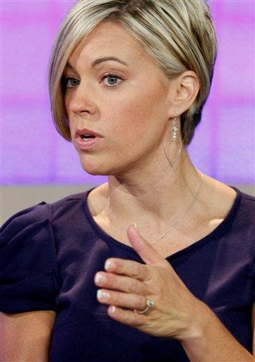 "In this Aug. 10, 2009 file photo, Kate Gosselin is interviewed on the NBC ""Today"" television show in New York."