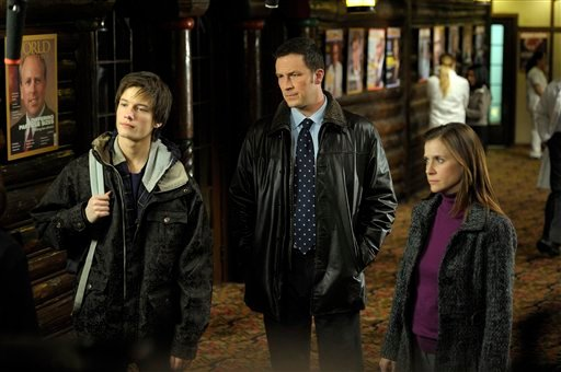 "In this publicity image released by Procter & Gamble Productions, Inc., from left, Justin Kelly, Brady Smith and Kellie Martin are shown in a scene from ""The Jensen Project."" (AP Photo/Procter & Gamble Productions, Inc., Philippe Bosse)"