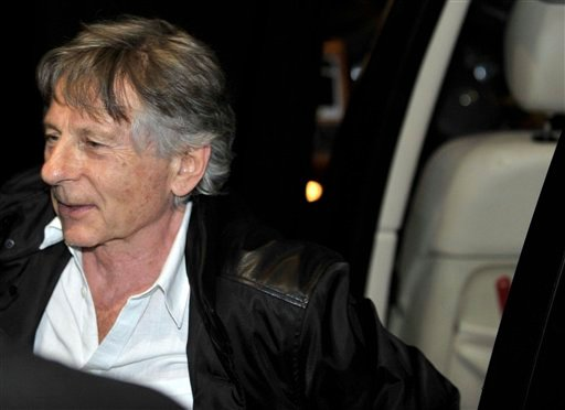 Film director Roman Polanski, arrives to watch his wife Emmanuelle Seigner, French singer and actress, perform at the Stravinski Hall stage at the 44th Montreux Jazz Festival, in Montreux, Switzerland, Saturday, July 17, 2010.  (AP Photo)