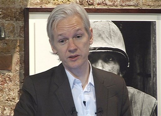 WikiLeaks founder Julian Assange speaks during a press conference in London Monday July 26, 2010. (AP Photo/Lizzie Robinson, PA)