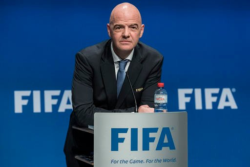 Gianni Infantino, FIFA President speaks after the FIFA Council meeting at the Home of FIFA in Zurich, Switzerland, Tuesday, Jan. 10, 2017.