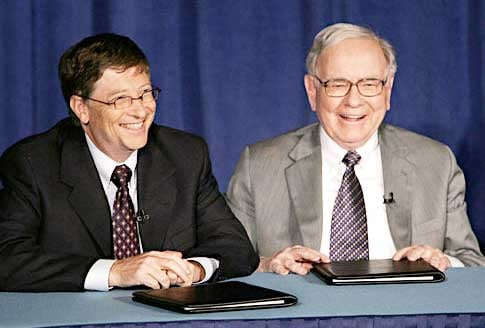Billionaires Bill Gates and Warren Buffett