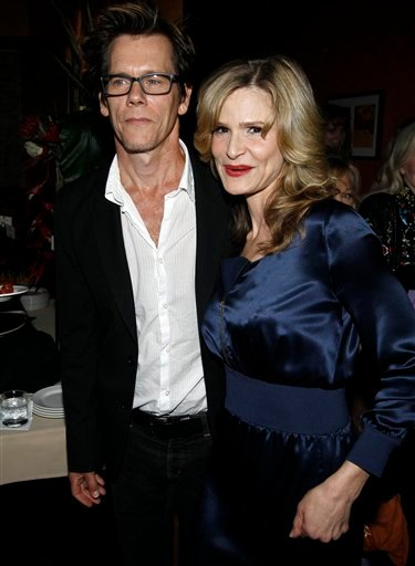 Actor Kevin Bacon, left, and actress Kyra Sedgwick pose together at The Academy of Television Arts and Sciences' Performers Peer Group cocktail reception celebrating the 62nd Primetime Emmy Awards in Beverly Hills, Calif., Wednesday, Aug. 4, 2010.