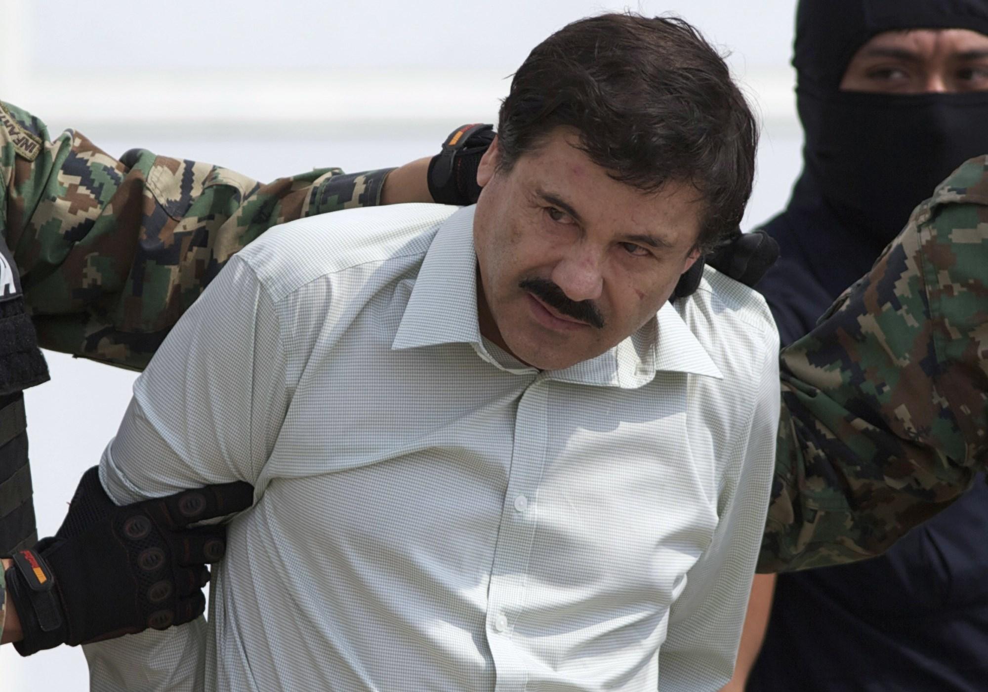 """A 2014 file photo of Joaquin """"El Chapo"""" Guzman"""
