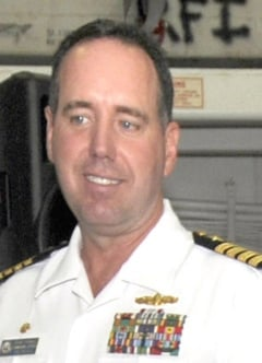 Capt. David Schnell, commanding officer of USS Peleliu, was relieved of command Sunday because of an investigation into improper relationships with his crewmembers. Andrew Dunlap/Courtesy of the U.S. Navy