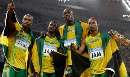 Nesta Carter (second left) and Usain Bolt (second right) were relay partners at five major championships.