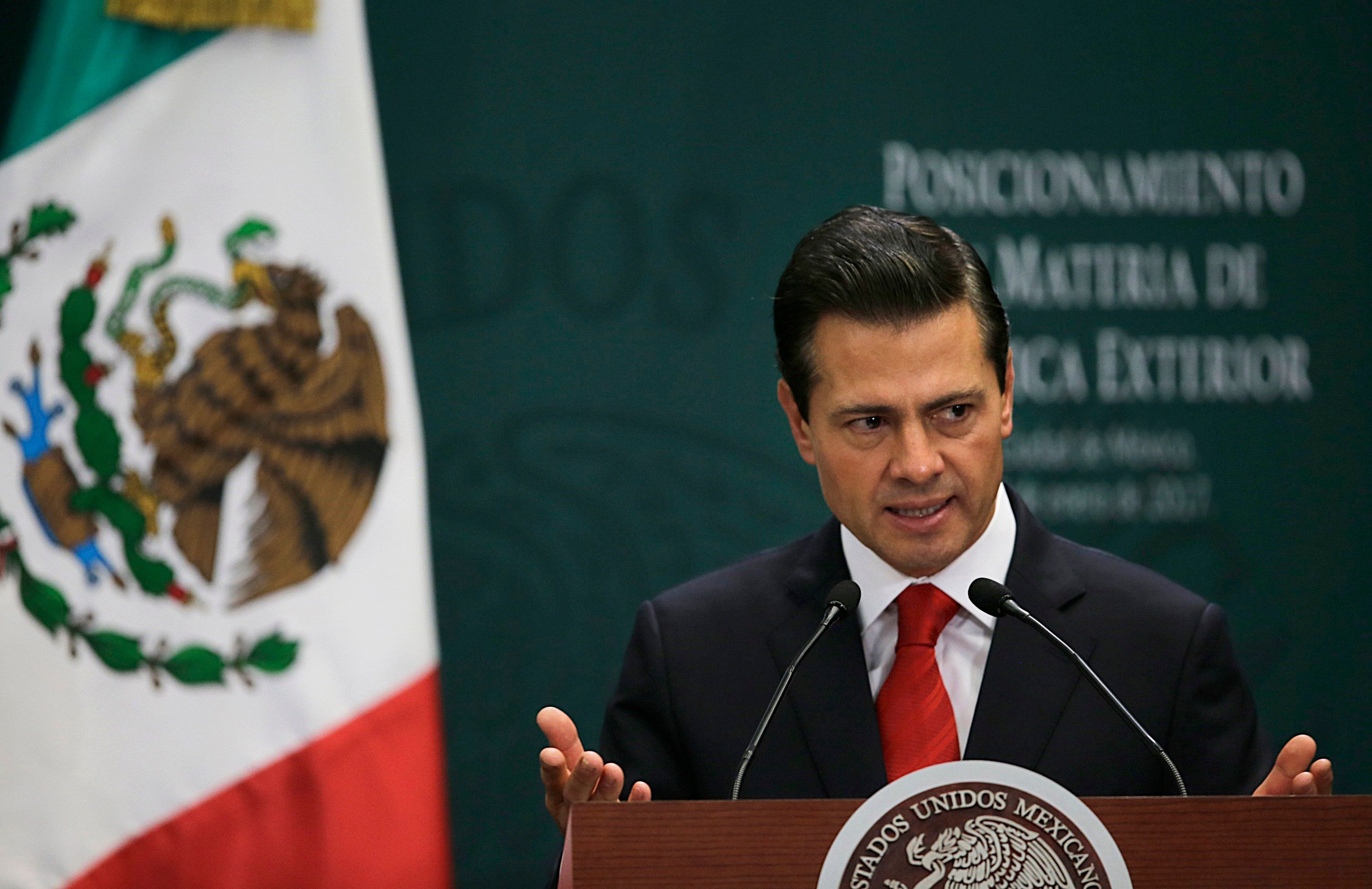 Pena Nieto said Monday that Mexico's attitude towards the Donald Trump administration should not be aggressive or biased, but one of dialogue. (AP Photo/Marco Ugarte)