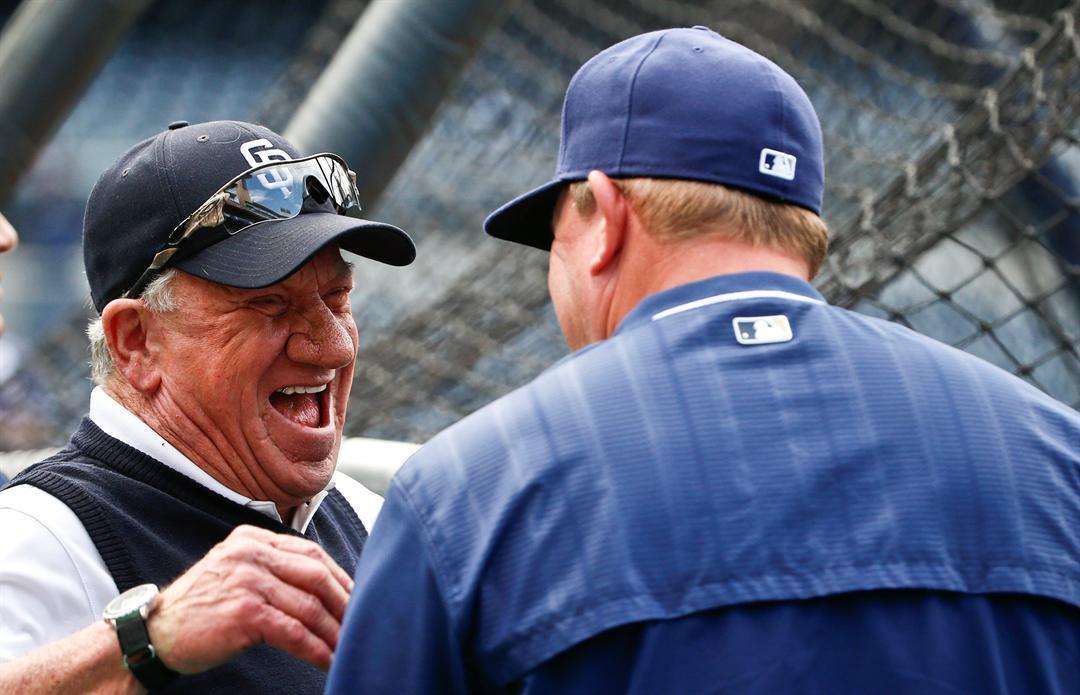 Former San Diego Padres pitcher Randy Jones in 2015. (AP Photo/Lenny Ignelzi)