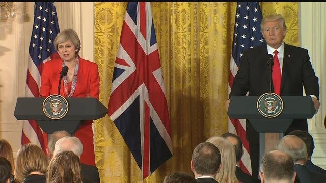President Trump and British PM May hold joint news conference.