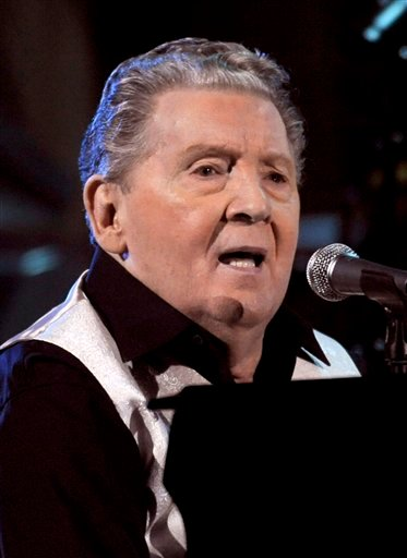 In this Oct. 30, 2009 file photo, Jerry Lee Lewis performs at the 25th Anniversary Rock & Roll Hall of Fame concert at Madison Square Garden in New York. (AP Photo/Henny Ray Abrams, file)