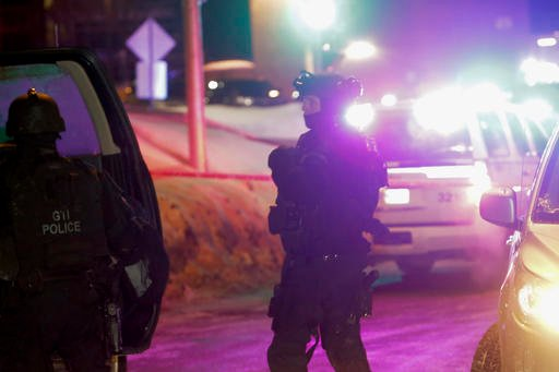 """Quebec Premier Philippe Couillard termed the act """"barbaric violence"""" and expressed solidarity with victims' families. (Francis Vachon/The Canadian Press via AP)"""