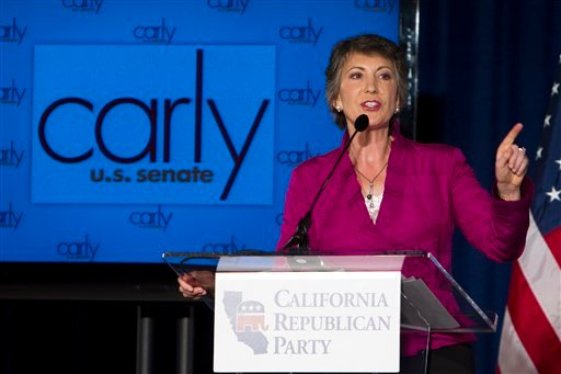 California GOP Senate challenger Carly Fiorina speaks to supporters at the California Republican Party 2010 Fall Convention Saturday, Aug. 21, 2010, in San Diego. (AP Photo/Chris Park)