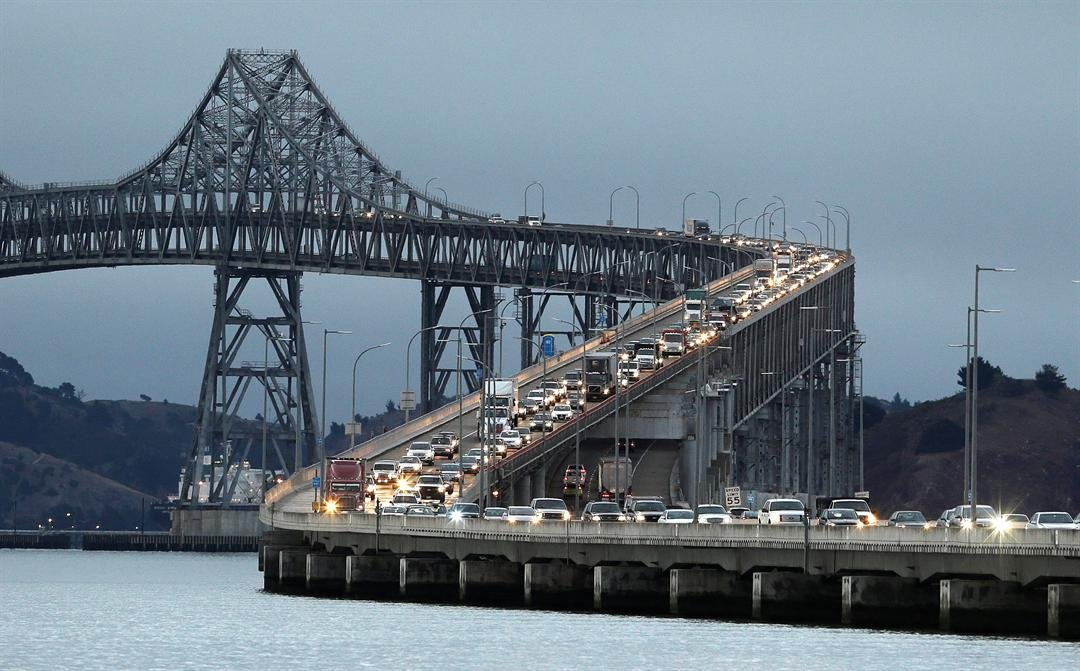 The discovery of a nest and egg in a tree is stalling the start of upgrades on the Richmond-San Rafael Bridge about 30 miles north of San Francisco, officials said Tuesday, Jan. 31, 2017. (AP Photo/Eric Risberg, File)