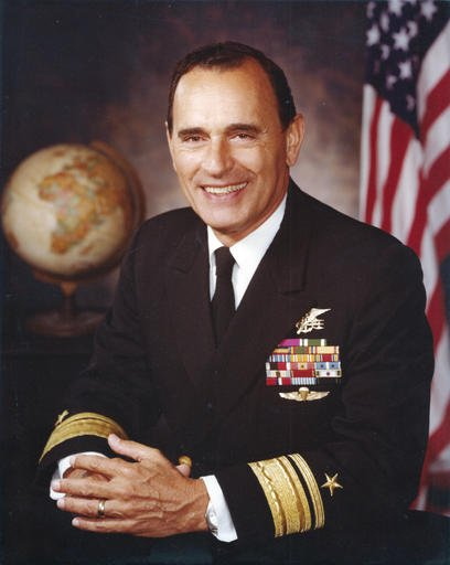 "This circa 1975 portrait by the U.S. Navy shows Adm. Richard ""Dick"" Lyon."