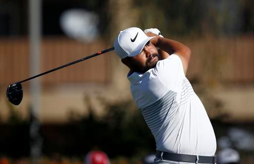J.J. Spaun hits his tee shot at the second hole during the final round of the Waste Management Phoenix Open golf tournament Sunday, Feb. 5, 2017, in Scottsdale, Ariz.