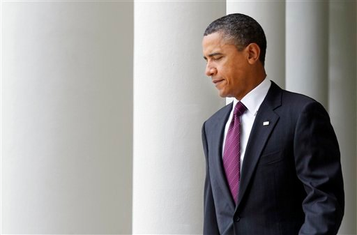 President Barack Obama walks to the Rose Garden of the White House in Washington, Friday, Sept. 3, 2010, to deliver a statement on monthly jobs numbers. (AP Photo/Pablo Martinez Monsivais)