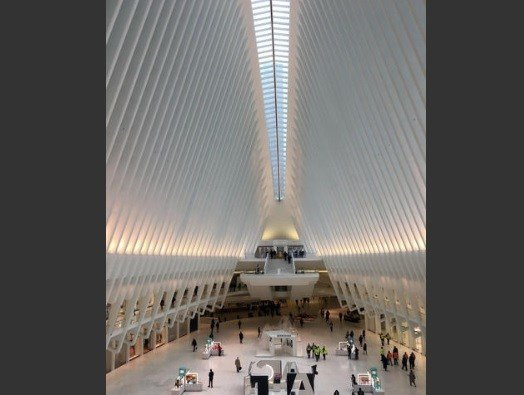 This Jan. 24, 2017 photo shows the interior of the Oculus in New York.