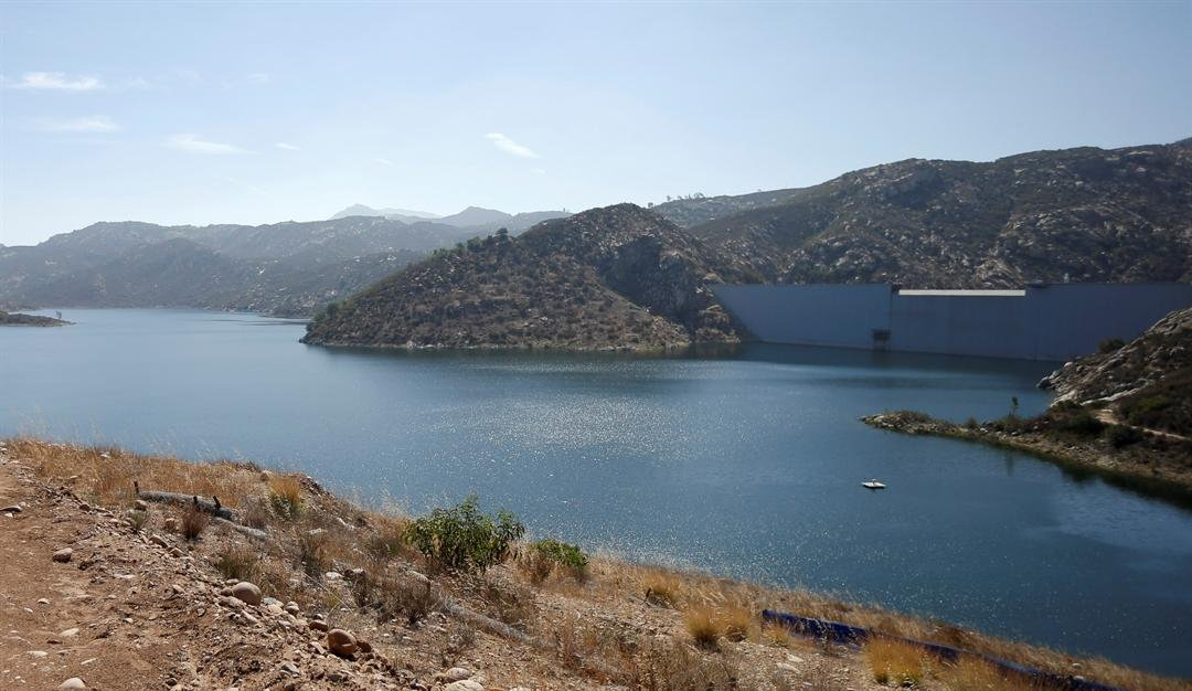 File photo of San Vicente Dam in 2014. (AP Photo/Gregory Bull)