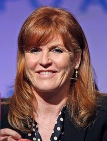 FILE - In this May 26, 2010 file photo, Sarah Ferguson, Duchess of York, speaks at the Book Expo America in New York.