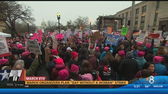 Women's March organizers plan 'Day Without A Woman' strike next month