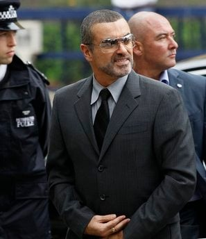 British singer George Michael arrives for sentencing at Highbury magistrates court in London, Tuesday, Sept. 14, 2010. George Michael is facing a fine or jail time after he admitted driving while under the influence of drugs.